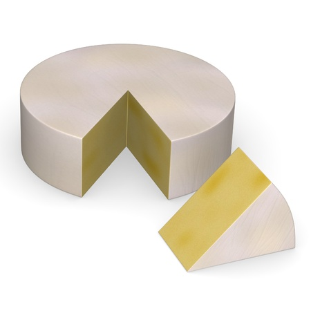 brie: 3d render of cheese piece Stock Photo