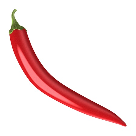 gastro: 3d render of chilli pepper