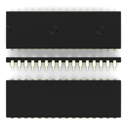 3d render of micro processor