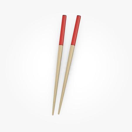 chop sticks: 3d render of chopsticks (for food)