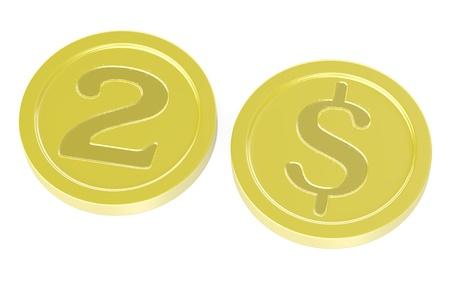 3d render of cartoon coins photo