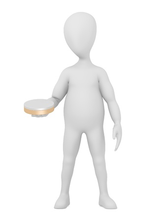 creme: 3d render of cartoon character with creme