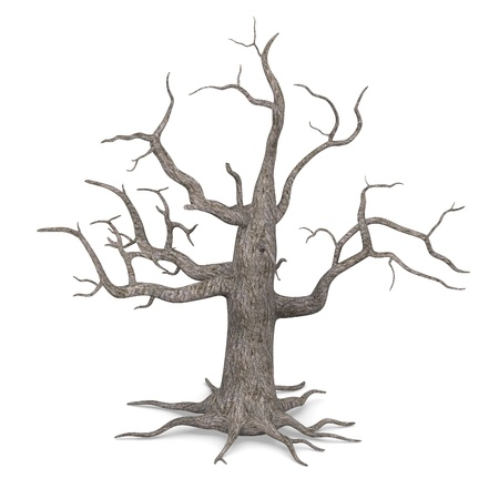 haloween: 3d render of dead tree Stock Photo