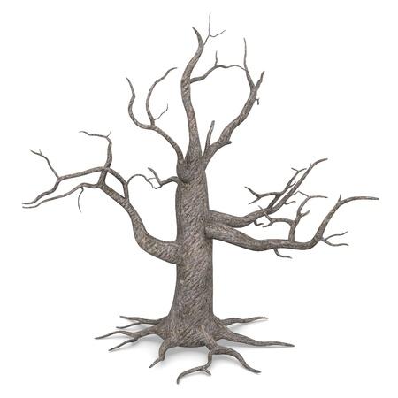 3d render of dead tree Stock Photo