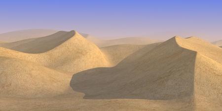 wasteland: 3d render of sand desert