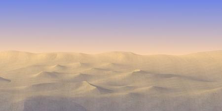 gobi: 3d render of sand desert