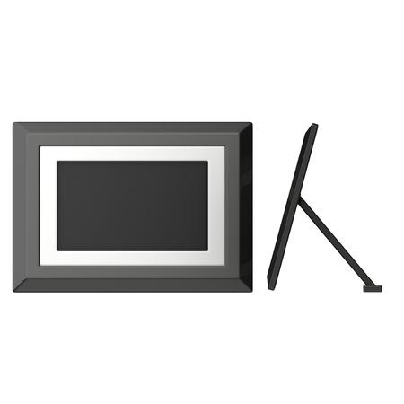 pva: 3d render of digital frame