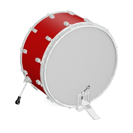 drumset: 3d render of drum instrument