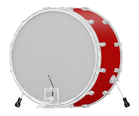 bass drum: 3d render of drum instrument