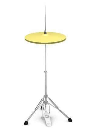 3D rendent d'instrument de cymbale Banque d'images - 13737312