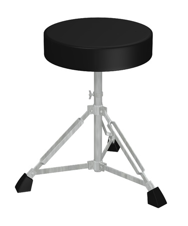 drumset: 3d render of small chair Stock Photo
