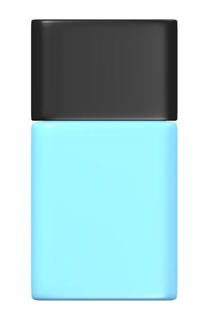 eau de toilette: 3d render of eau de toilette bottle