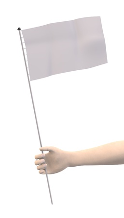 keep your hands: 3d render of hand with flag
