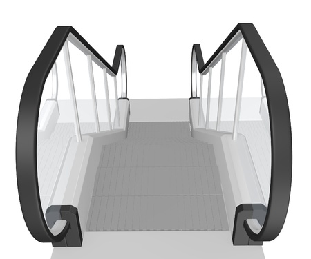escalator: 3d render of escalator stairs