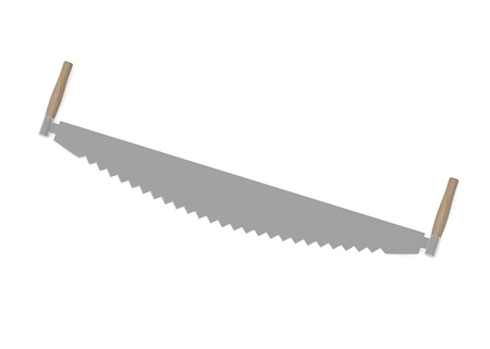 handsaw: 3d render of farming tool Stock Photo