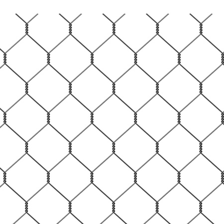3d render of wire fence photo