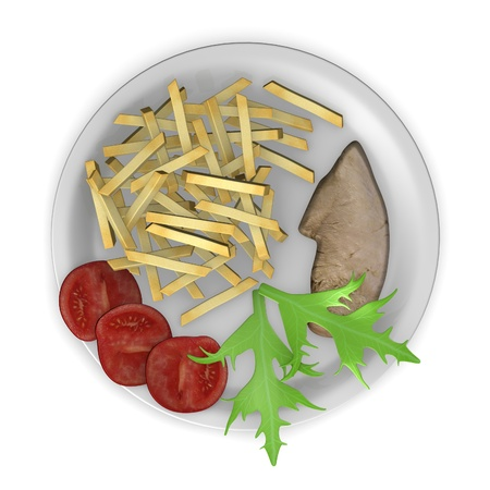 3d render of artificial food photo