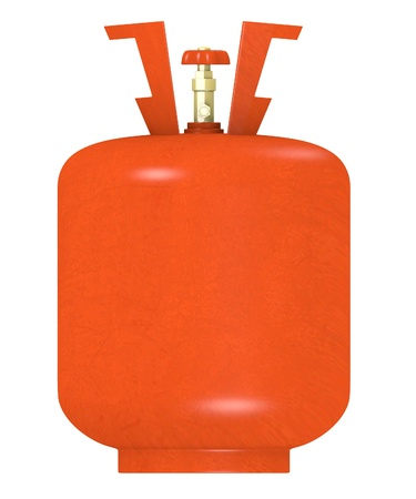 oxygene: 3d render of gas container Stock Photo