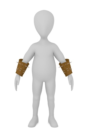 stockie: 3d render of cartoon character with gauntlet Stock Photo
