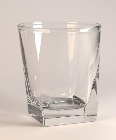 3d render of empty glass photo