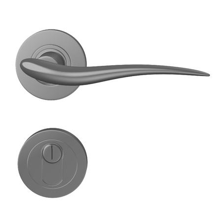 doorhandle: 3d render of door handle Stock Photo