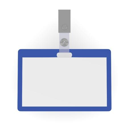 3d render of ID badge Stock Photo - 13723559