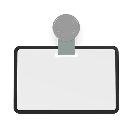 3d render of ID badge Stock Photo - 13723617