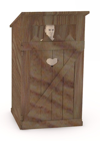 latrina: 3d rendering di carattere artificiale latrina