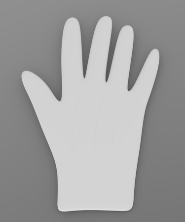 3d render of magician gloves