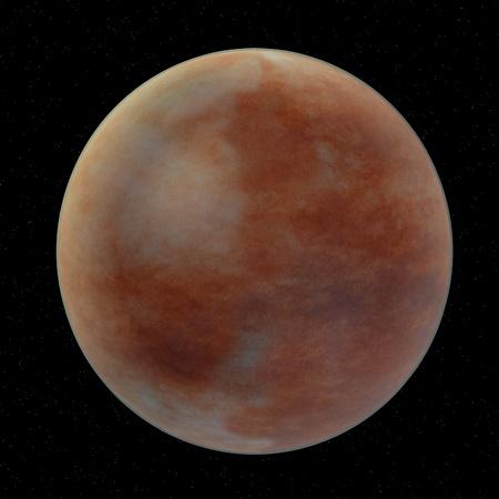 3d render of mars planet photo
