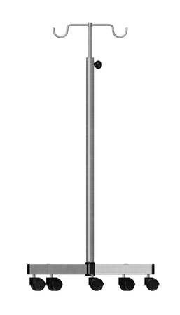 saline: 3d render of saline stand