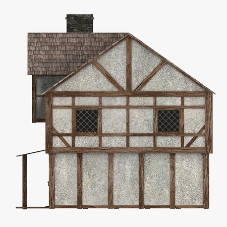 3d render of medieval building Stock Photo - 13746042