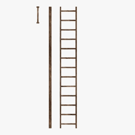 3d render of wooden ladder Stock Photo - 13741041