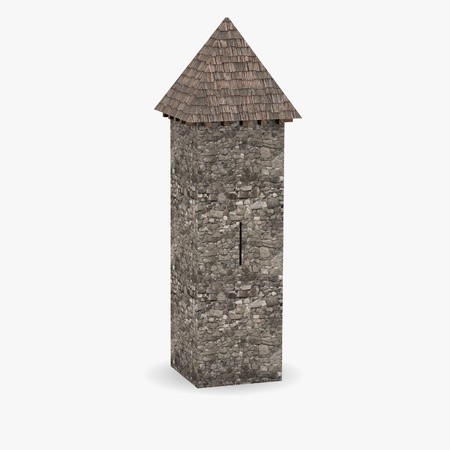 3d render of medieval tower Stock Photo