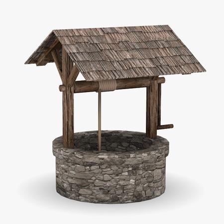 中世の井戸の 3 d レンダリング