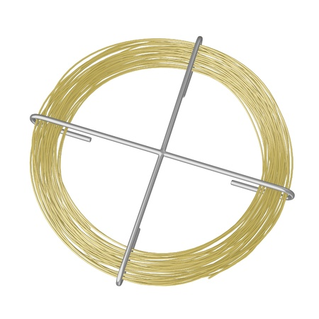 copper wire: 3d render of wire (from metal) Stock Photo