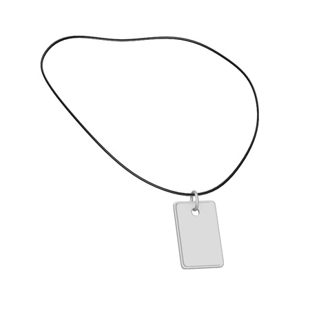 dogtag: 3d render of necklace (men fashion)