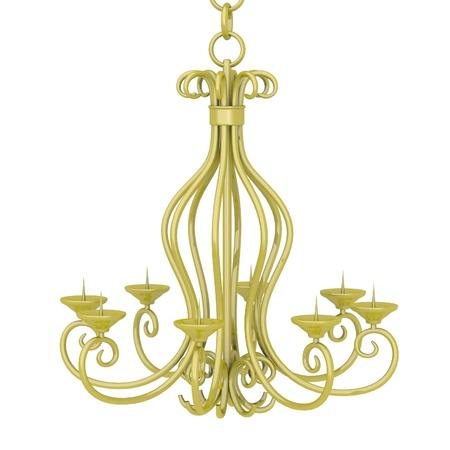 3d render of old candlestick