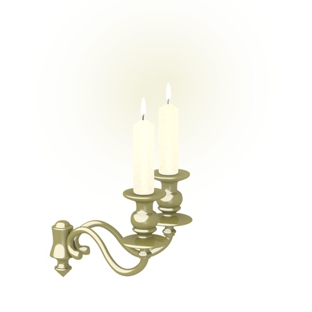 candlestick: 3d render of old candlestick