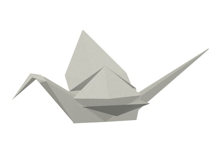 3d render of origami animal photo