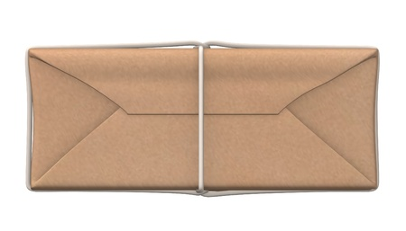 carboard box: 3d render of paper package Stock Photo