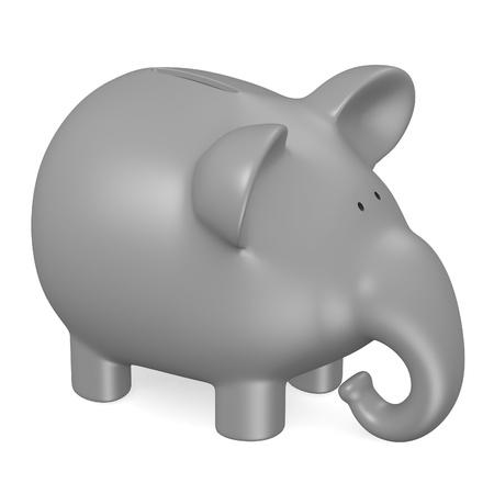 3d render of piggy bank photo