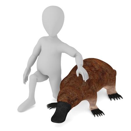 wierd: 3d render of cartoon character with platypus