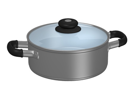 3d render of cooking pot Stock Photo
