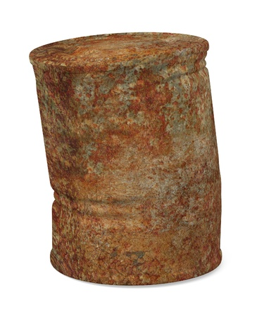 3d render of rusty can photo