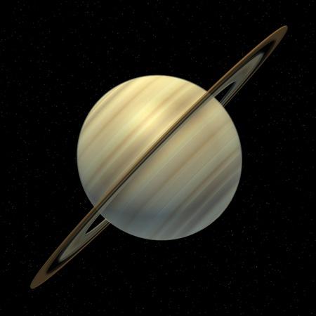 Rendu 3d de la planète Saturne Banque d'images - 13742707