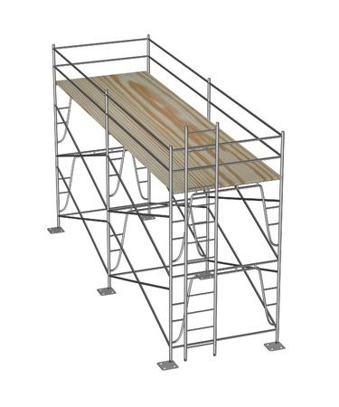 falsework: 3d render of construction scaffolding