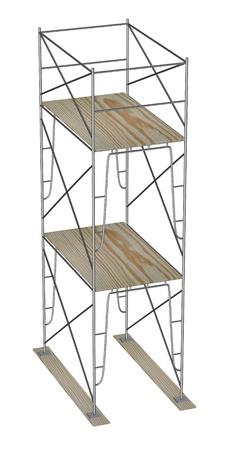 3d render of construction scaffolding