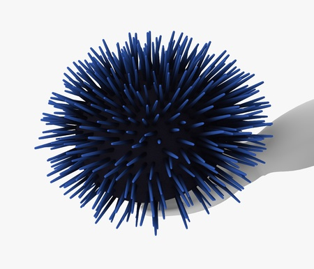 urchin: 3d render of cartoon character with sea urchin