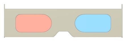 3d render of stereoscopic glasses photo
